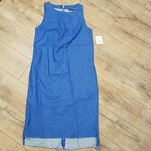 Zara Denim Midi Dress Vintage Style Size M/4